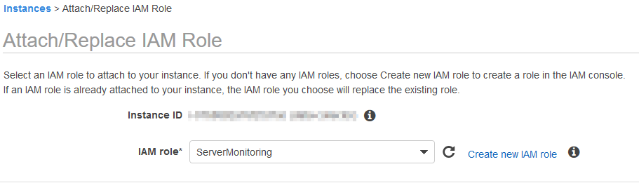 attach iam role to instance